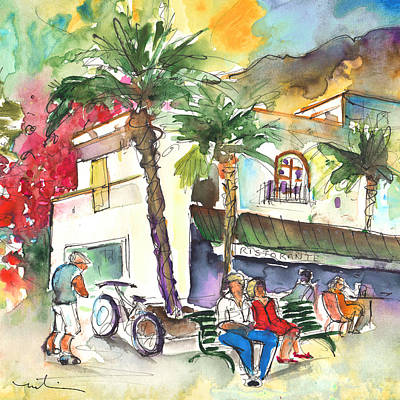 Canary Drawing - Puerto Mogan 07 by Miki De Goodaboom