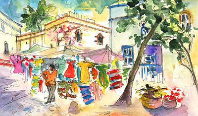 Canary Drawing - Puerto Mogan 09 by Miki De Goodaboom