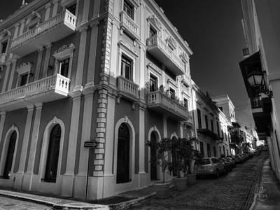 Puerto Rico - Old San Juan 004 Bw Print by Lance Vaughn