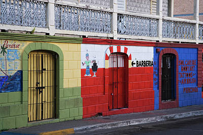 Store Fronts Photograph - Puerto Rico, Vieques, Isabela Segunda by Jaynes Gallery