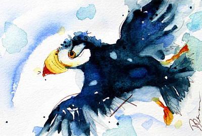 Puffin Flight Original by Dawn Derman