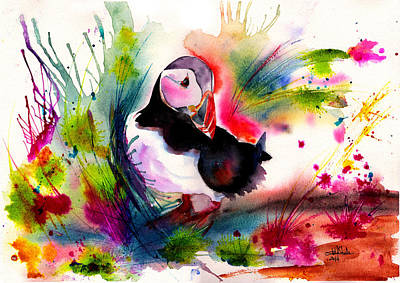 Puffin Drawing - Puffin by Isabel Salvador