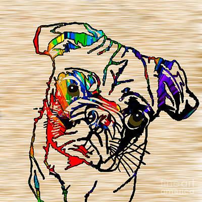 Pug Mixed Media - Pug Mug by Marvin Blaine