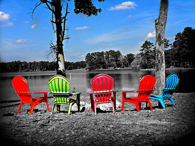 Pull Up A Chair Edited Print by Lisa Wooten