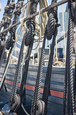 Wooden Ships Photograph - Pulley And Stay by Scott Campbell