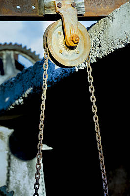 Steel Photograph - Pulley by Fran Riley