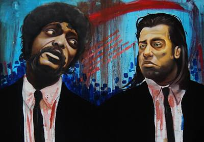 Samuel L Jackson Painting - Pulp Fiction by Matt Burke