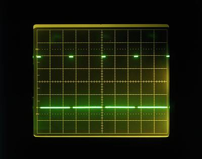 Electronics Photograph - Pulses On Oscilloscope Screen by Dorling Kindersley/uig