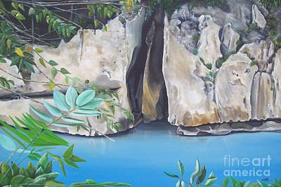 Jamaican Art Painting - Pum Pum Rock by Kenneth Harris