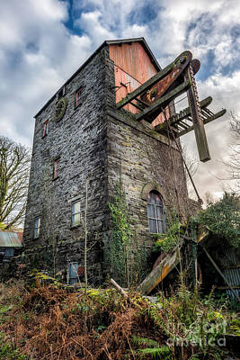 Dilapidated Photograph - Pump House by Adrian Evans