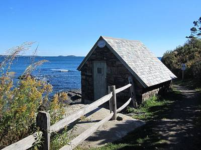Photograph - Pump House At The Cliff Walk by Patricia Urato