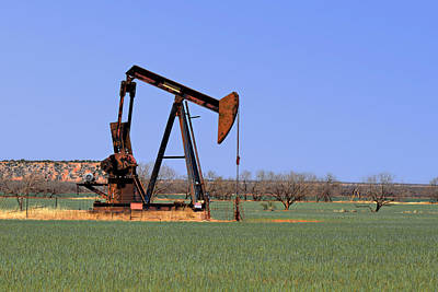 Pump Jack A Texas Icon Print by Christine Till