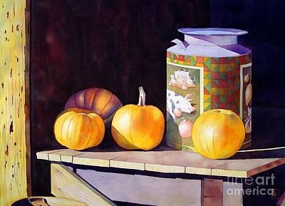 Pumpkins Painting - Pumpkiins At Collier Farm by Robert Hooper