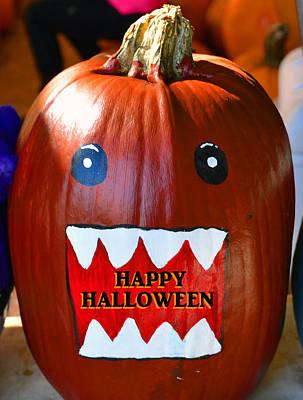 Jack-o-lantern Digital Art - Pumpkin Hallowween Card by David Lee Thompson