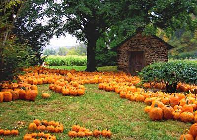 Cornfield Mixed Media - Pumpkin Patch by Garland Johnson