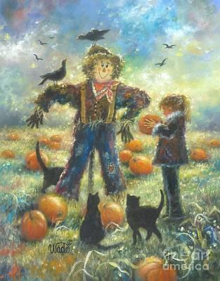 Pumpkin Patch Girl Original by Vickie Wade