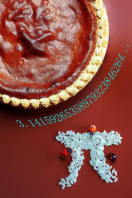 Pumpkin Pie And Pi Food Physics Print by Paul Ge