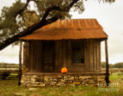 Pumpkin Porch Print by Sonja Quintero
