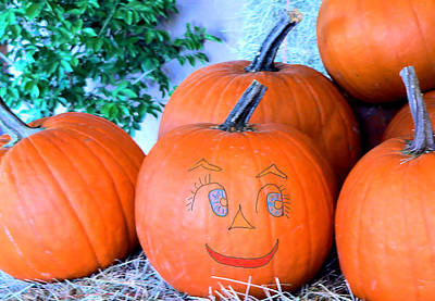 Pumpkin Smile Print by Rosalie Scanlon