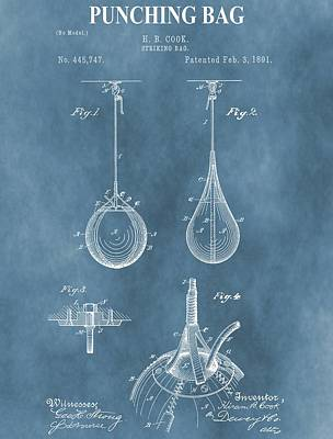 Boxer Mixed Media - Punching Bag Patent by Dan Sproul