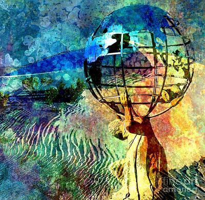 Punishment Of Atlas Print by Tammera Malicki-Wong