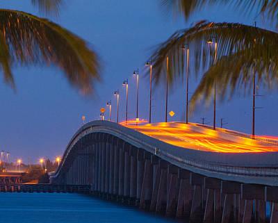 Punta Gorda Bridge At Night Original by Don Kerr