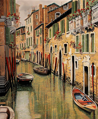 Balconies Painting - Punte Rosse A Venezia by Guido Borelli