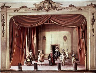 Fine Thread Photograph - Puppet Theatre With Marionettes, 18th by Everett