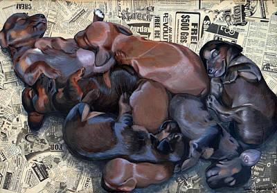 Puppy Breath Print by Lena Quagliato