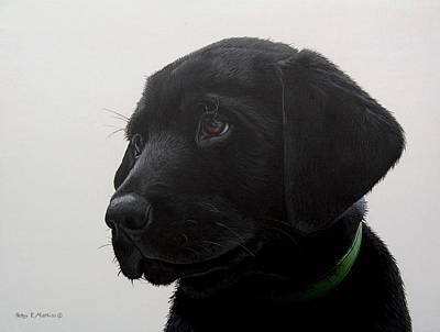 Puppy Eyes Print by Peter Mathios