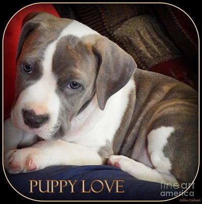 Puppy Love Print by Bobbee Rickard