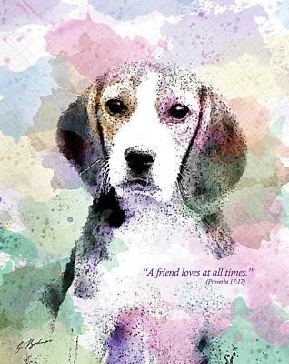 Cute Dog Digital Art - Puppy Love by Gary Bodnar