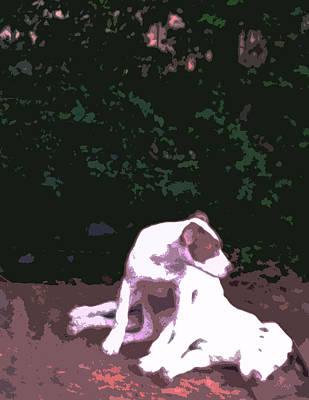 Puppy Twins Original Popart Original by Tanya Sorth