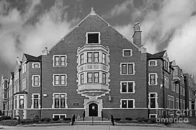 Purdue University Duhme Residence Hall Print by University Icons