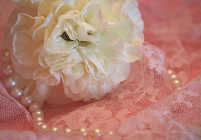 Pearls Photograph - Pure Beauty by  The Art Of Marilyn Ridoutt-Greene