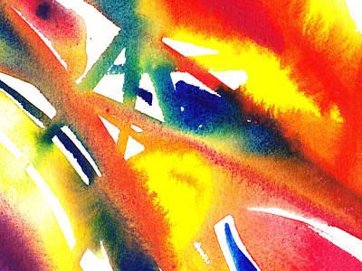 Pure Color Inspiration Abstract Painting Flamboyant Glide  Print by Irina Sztukowski
