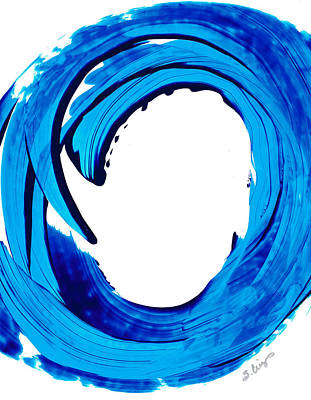 Pure Water 312 - Blue Abstract Art By Sharon Cummings Print by Sharon Cummings