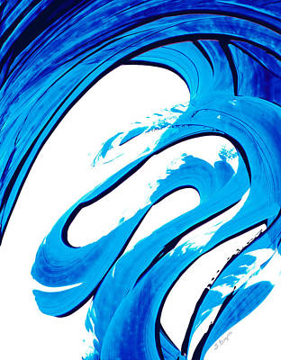 Abstract Beach Art Abstract Beach Painting - Pure Water 315 - Blue Abstract Art By Sharon Cummings by Sharon Cummings