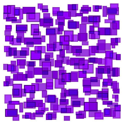Geometrical Drawing - Purple Abstract by Frank Tschakert