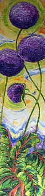 Purple Allium Flowers II Print by Paris Wyatt Llanso