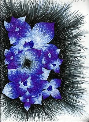 Kangaroo Mixed Media - Purple by Allyson Andrewz