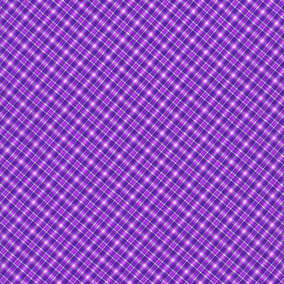Purple And Pink Diagonal Plaid Pattern Cloth Background Print by Keith Webber Jr