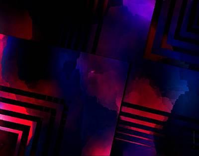 Shadow Digital Art - Purple And Red Smoke by Mario Perez