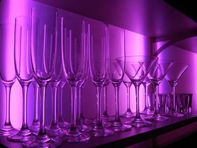 Purple Bar Glasses Original by Ian Mcadie