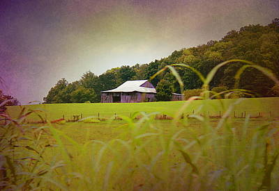 White House Mixed Media - Purple Barn by Kume Bryant