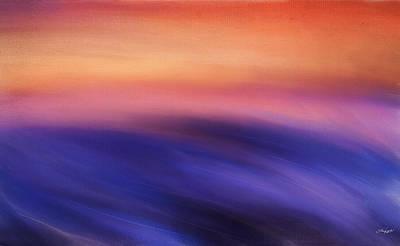 Abstract Seascape Digital Art - Purple Beauty by Lourry Legarde