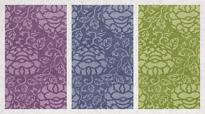 Purple Blue Green Print by Aged Pixel