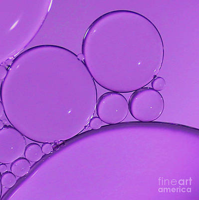 Photograph - Purple Bubbles by Karin Ubeleis-Jones