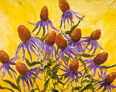 Purple Cone Flowers Print by Paris Wyatt Llanso