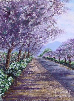 Constance Widen Painting - Purple Defiance - Stolen by Stanza Widen